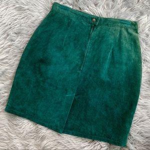 VTG Suede Leather Skirt